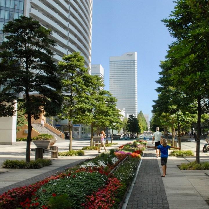 yokohama with kids pedestrian area