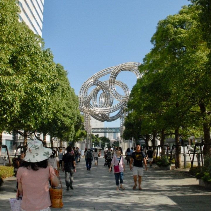 yokohama with kids pedestrian area artwork