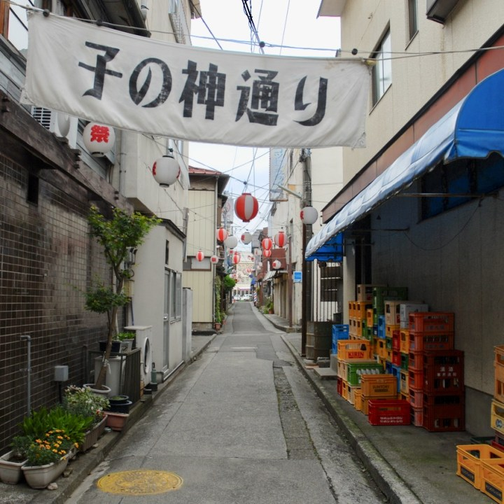 japan with kids mt fuji fijuyoshida alley