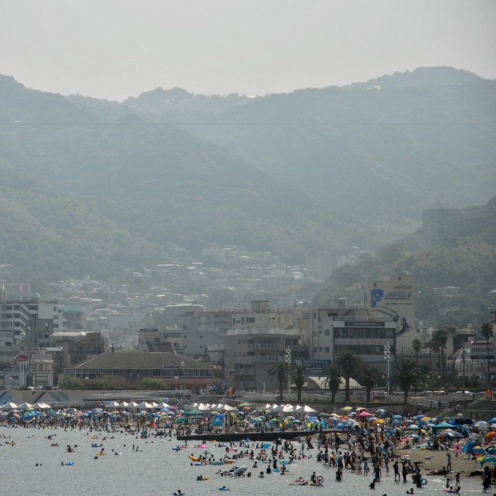 japan with kids driving holiday izu peninsular yugawara beach