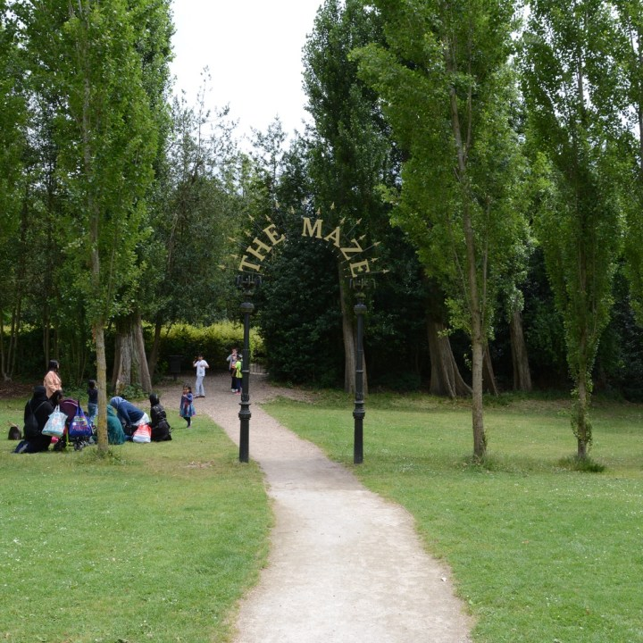 crystal palace park with kids maze