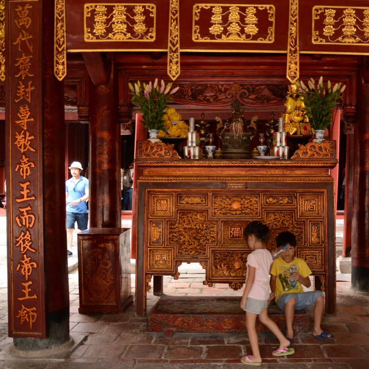 Travel with kids Vietnam hanoi temple of literature