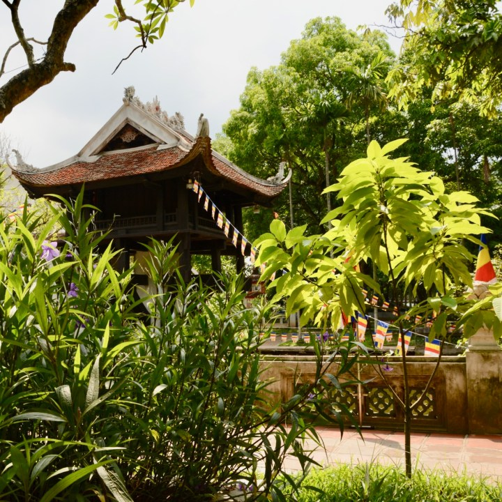 travel with kids vietnam hanoi ho chi minhstilted pagoda