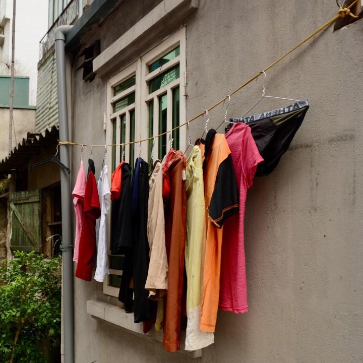 travel with kids vietnam hanoi washing line