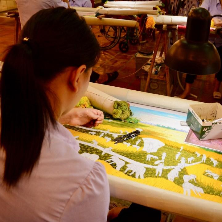 vietnam with kids ha long bayhandicraft