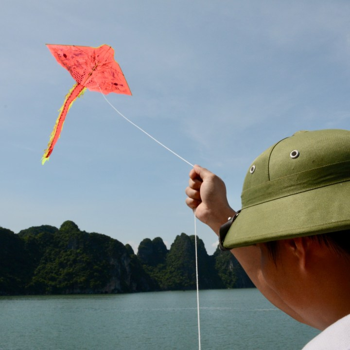 vietnam with kids ha long bay kite