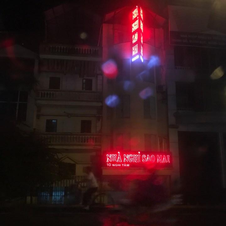 travel with kids vietnam hanoi neon light
