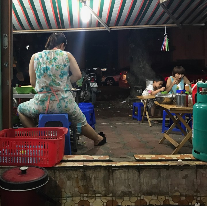 travel with kids vietnam hanoi streetfood