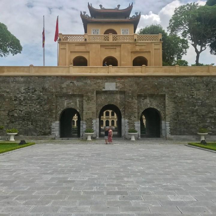 travel with kids vietnam hanoi citadel gate
