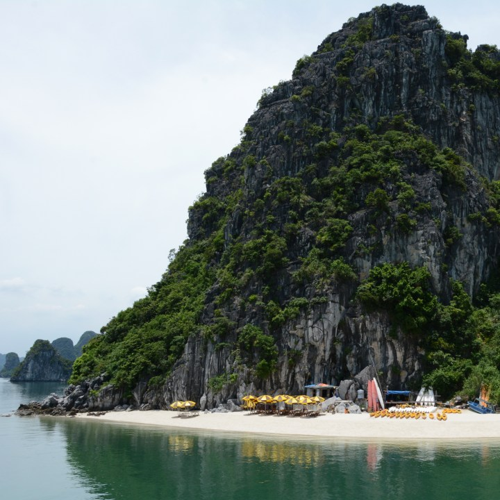 vietnam with kids ha long bay beach