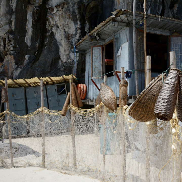 vietnam with kids ha long bay fisher baskets