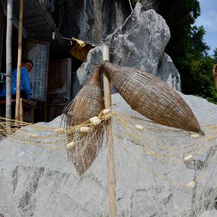 vietnam with kids ha long bay fisher basket