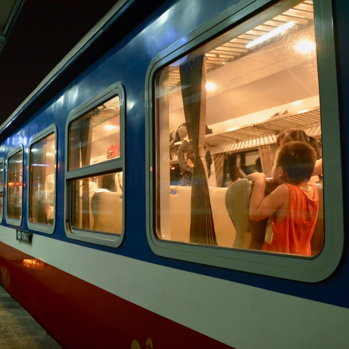 vietnam with kids hanoi train soft seats