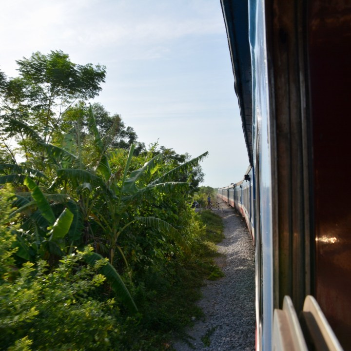 vietnam with kids hanoi train view