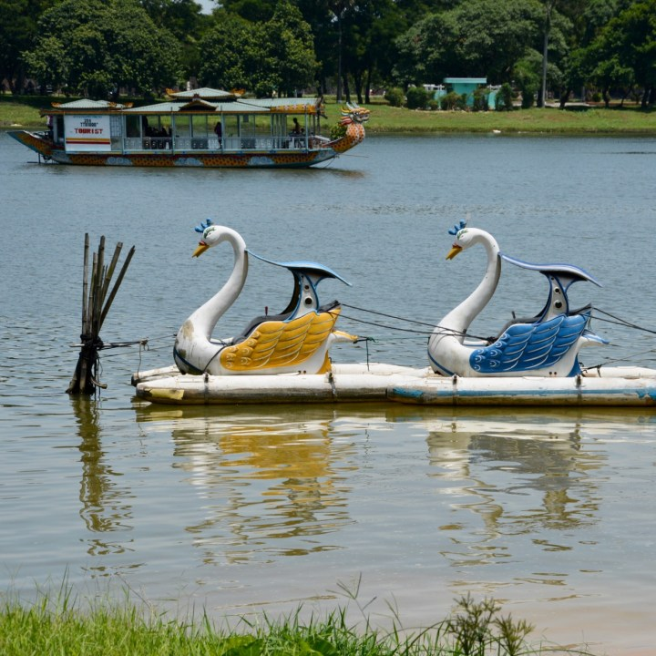 vietnam with kids hue swan pedal boats