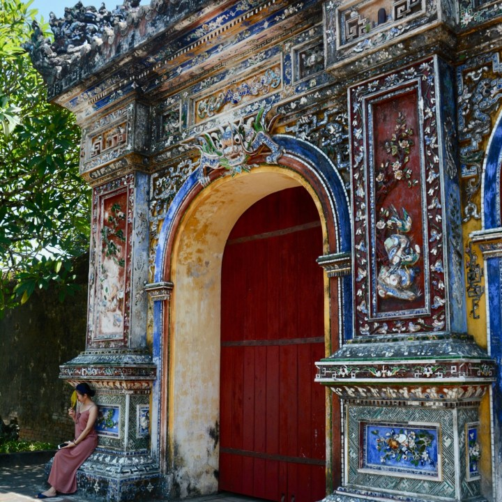 vietnam with kids hue exit gate