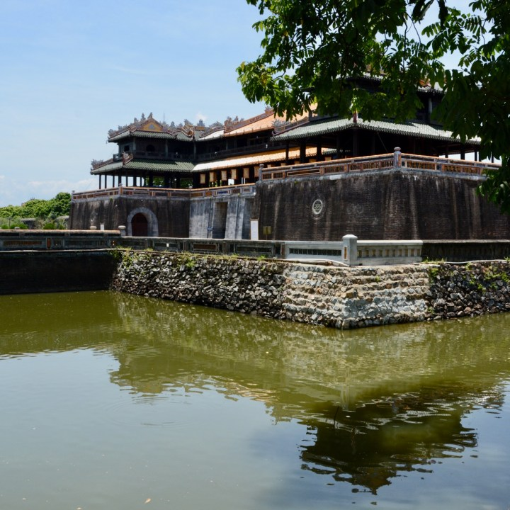 vietnam travel with kids hue citadel moat