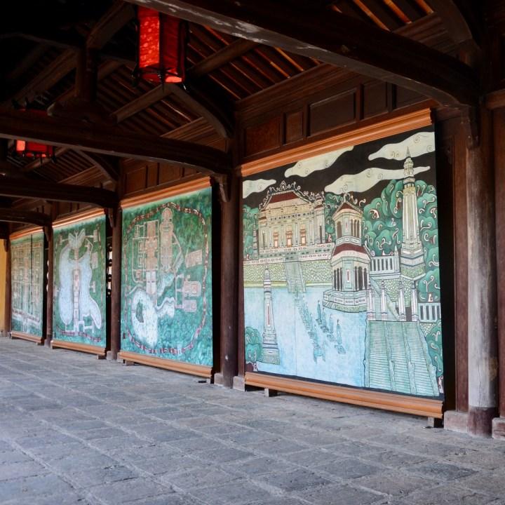 vietnam travel with kids hue citadel murals