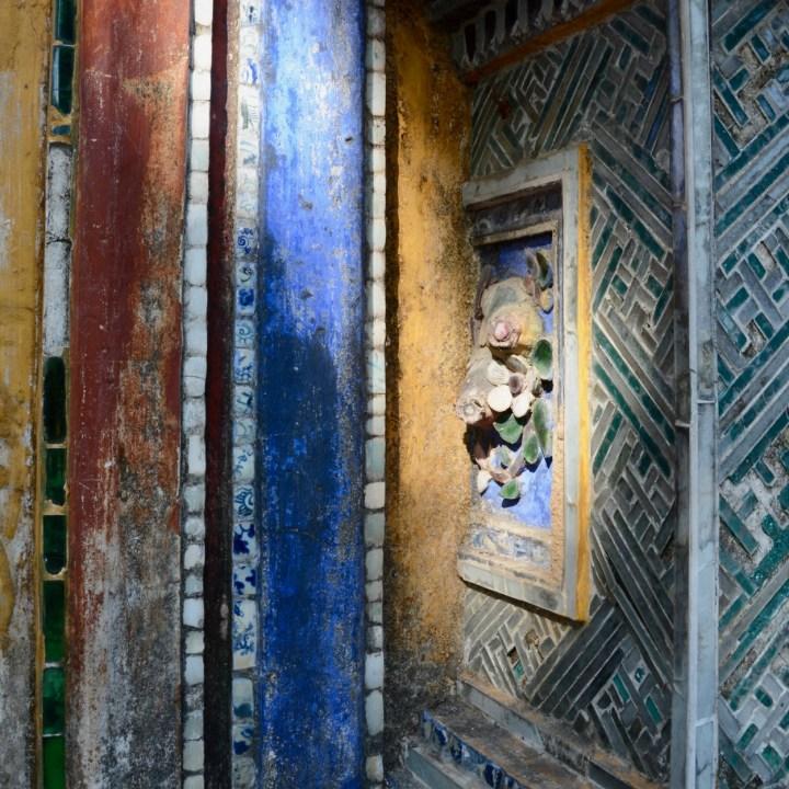 vietnam travel with kids hue citadel intricate tiles