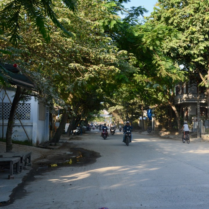 vietnam travel with kids hue side street