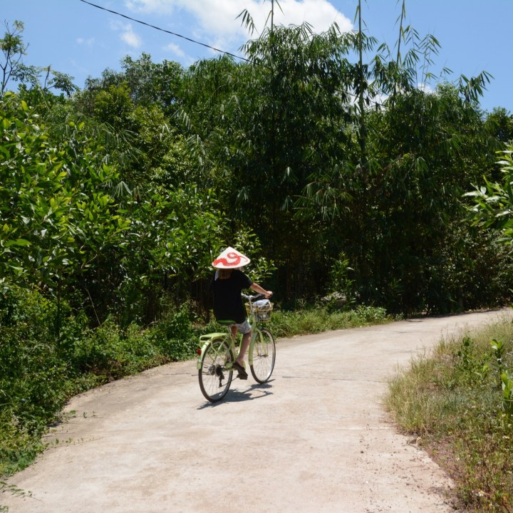 vietnam travel with kids hue cycling