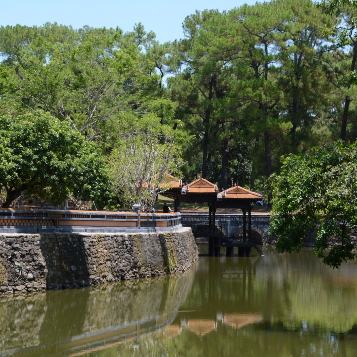 vietnam with kids hue tu duc tomb lakeside pavilion