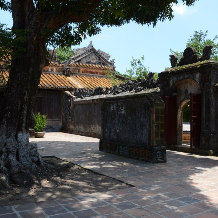 vietnam with kids hue tu duc tomb side gate
