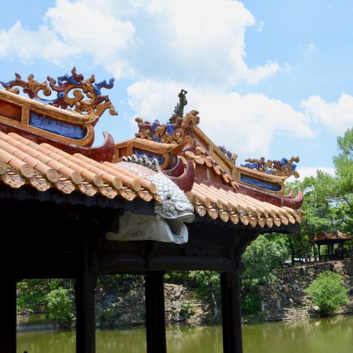 vietnam with kids hue tu duc tomb roof detail