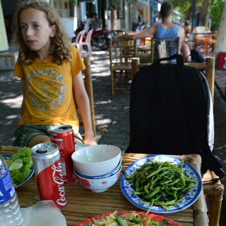 vietnam with kids hue market lunch