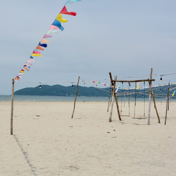 vietnam with kids chan may beach swings