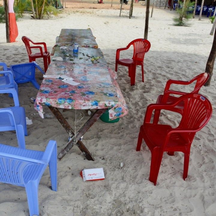 vietnam with kids chan may beach table
