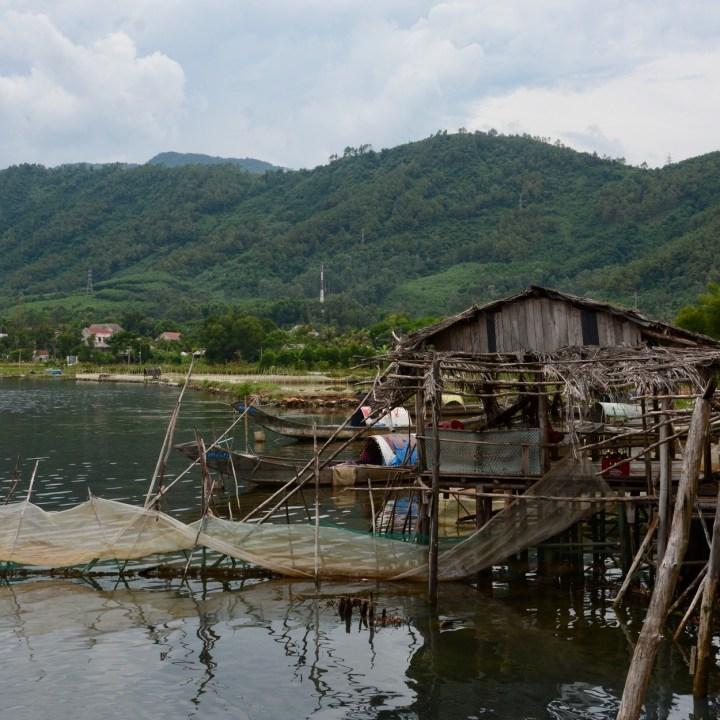 vietnam travel with kids vedana lagoon fisher hut