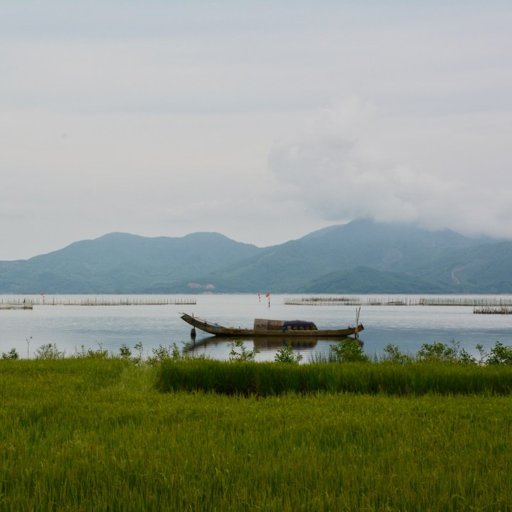 vietnam travel with kids vedana lagoon fisher boat