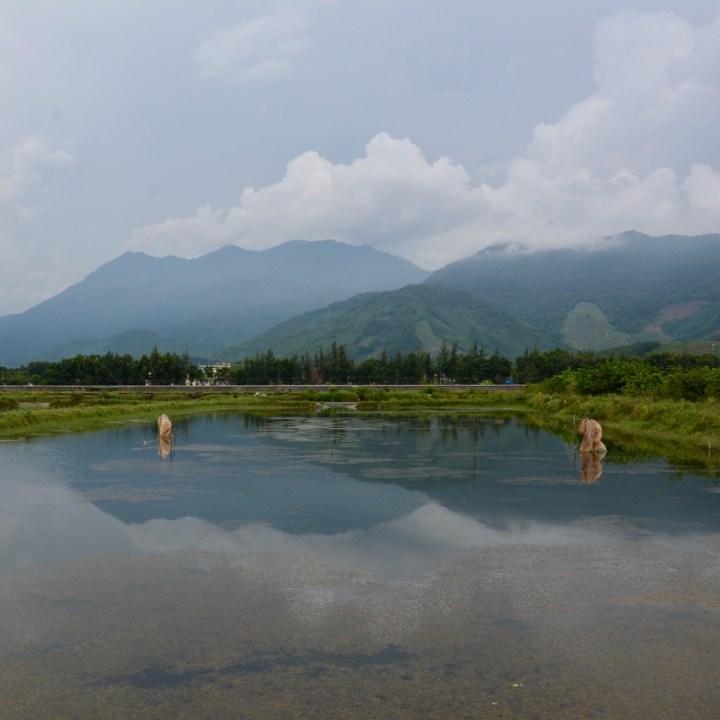 vietnam travel with kids da bac village lake