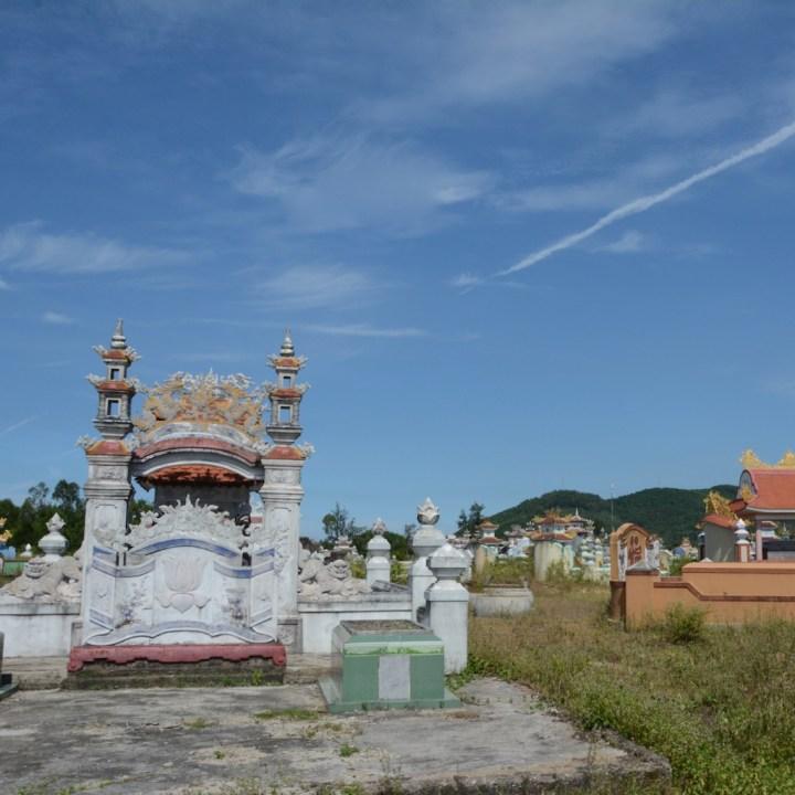 vietnam with kids cai lau lagoon grave