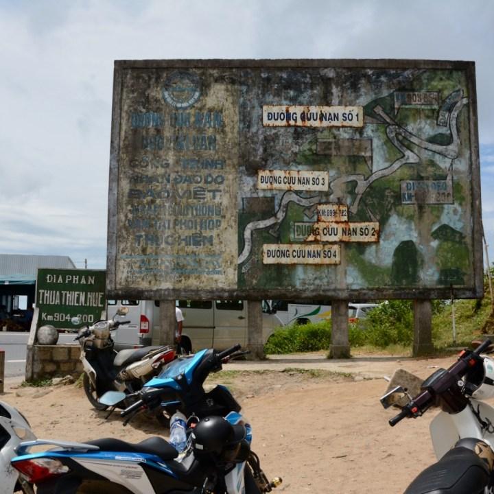 vietnam travel with kids hai van pass map