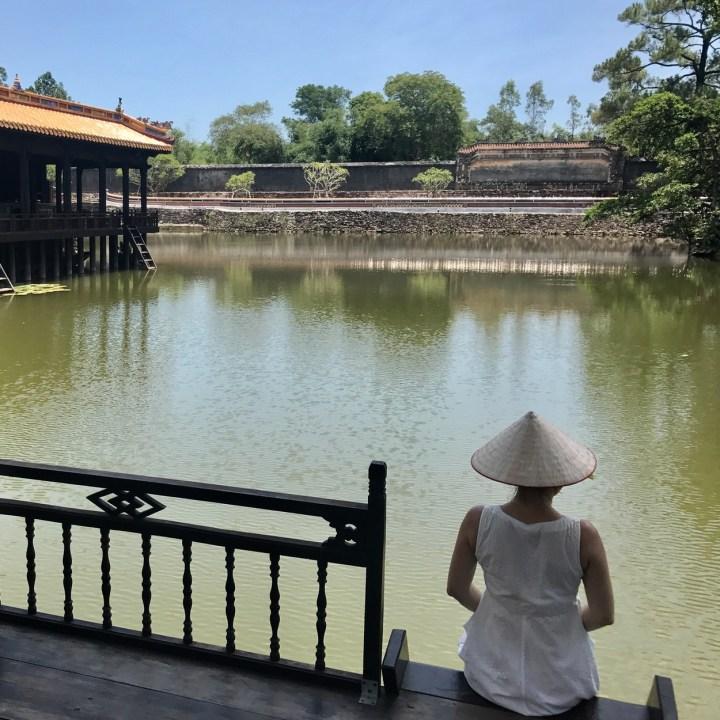 vietnam with kids hue tu duc tomb serenity