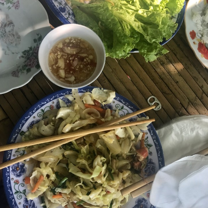 vietnam with kids hue market stir fry