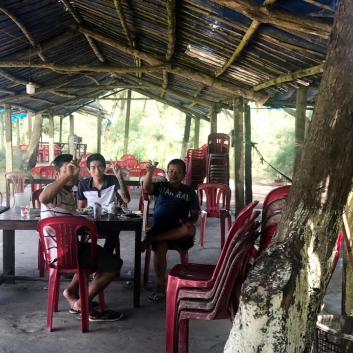 vietnam travel with kids beach bar