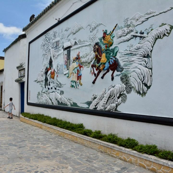 vietnam with kids hoi an mural