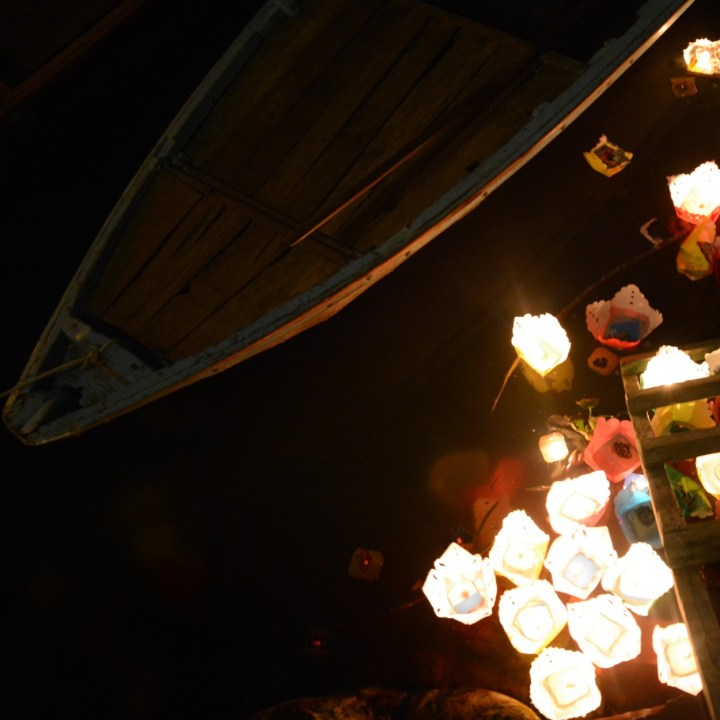 hoi an by night with kids candles