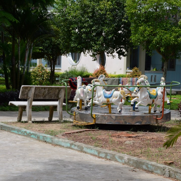 vietnam travel with kids hoi an rural bike ride carousel