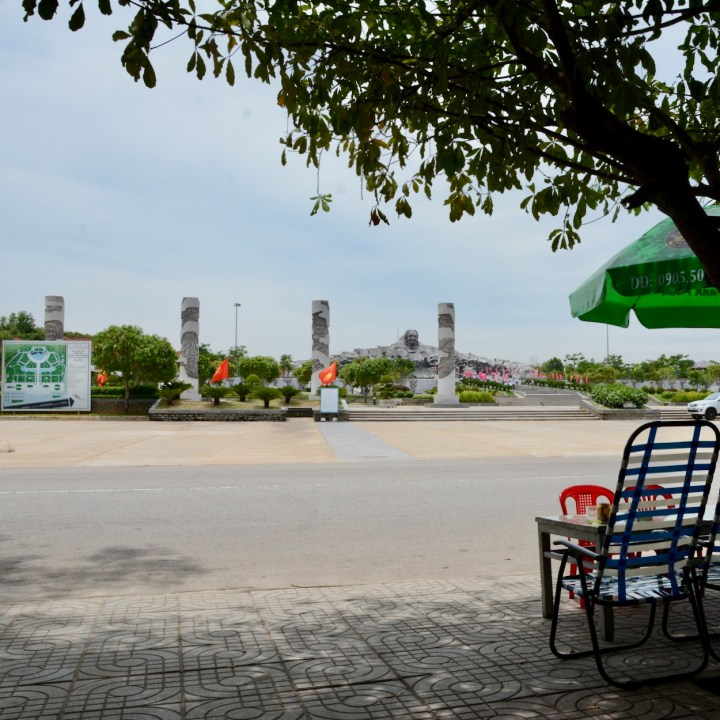 travel with kids vietnam mother vietnam monument view