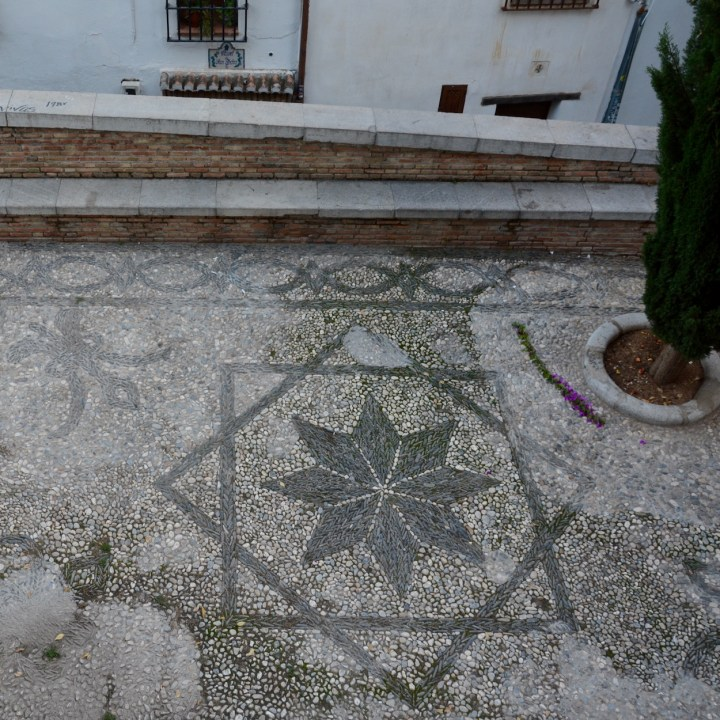 Granada spain with kids pebbled square