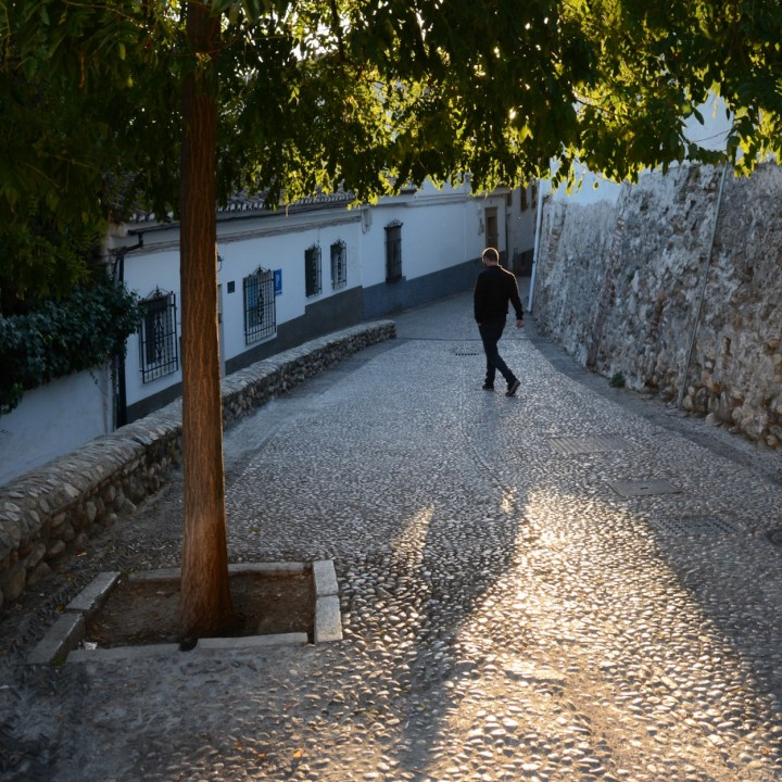 Granada spain with kids shadows