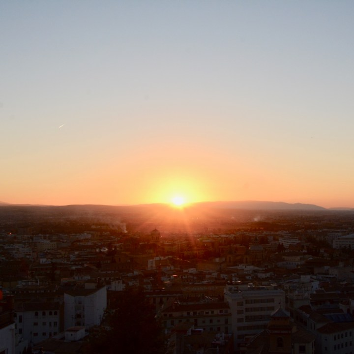 Granada spain with kids sunset view