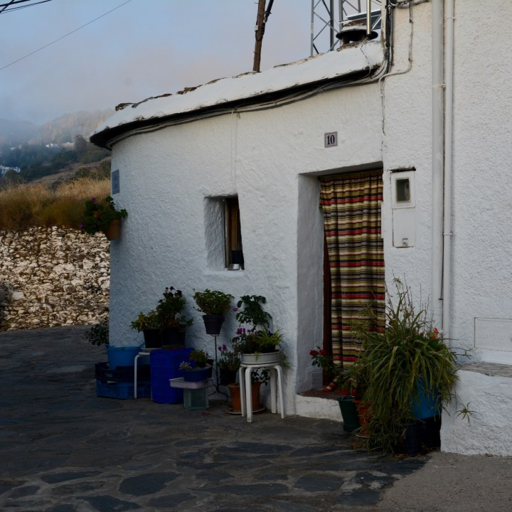 las alpujarras with kids bubion entrance door