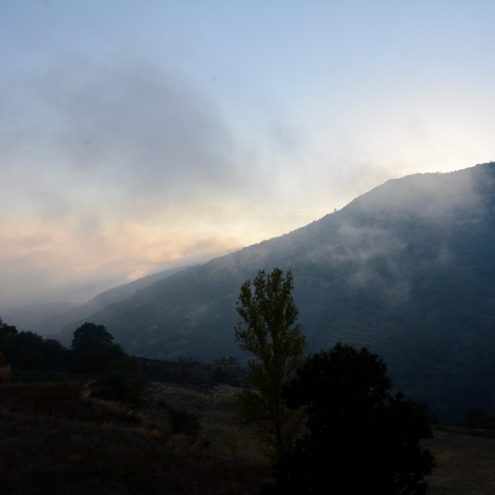 las alpujarras with kids bubion evening fog
