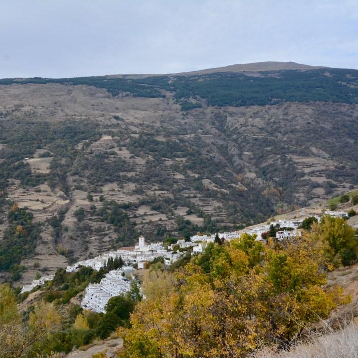 hiking with kids las aplujarras capileira view