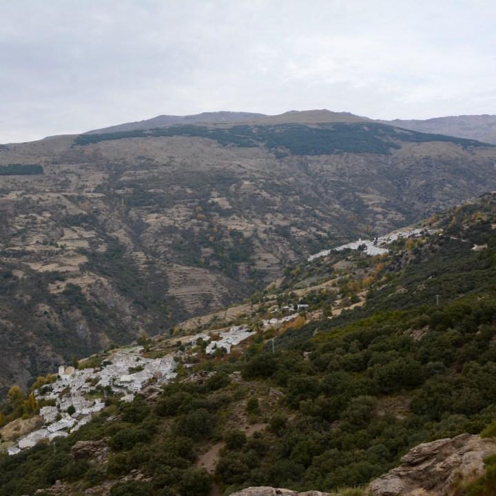 hiking with kids las aplujarras capileira village views